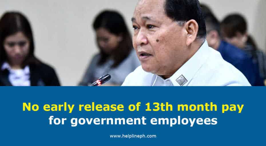13th month pay for government employees