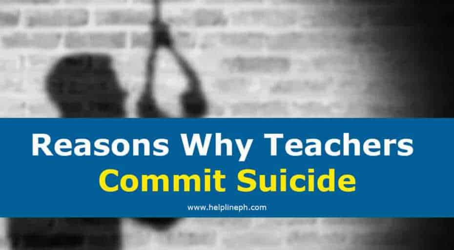 Reasons Why Teachers Commit Suicide