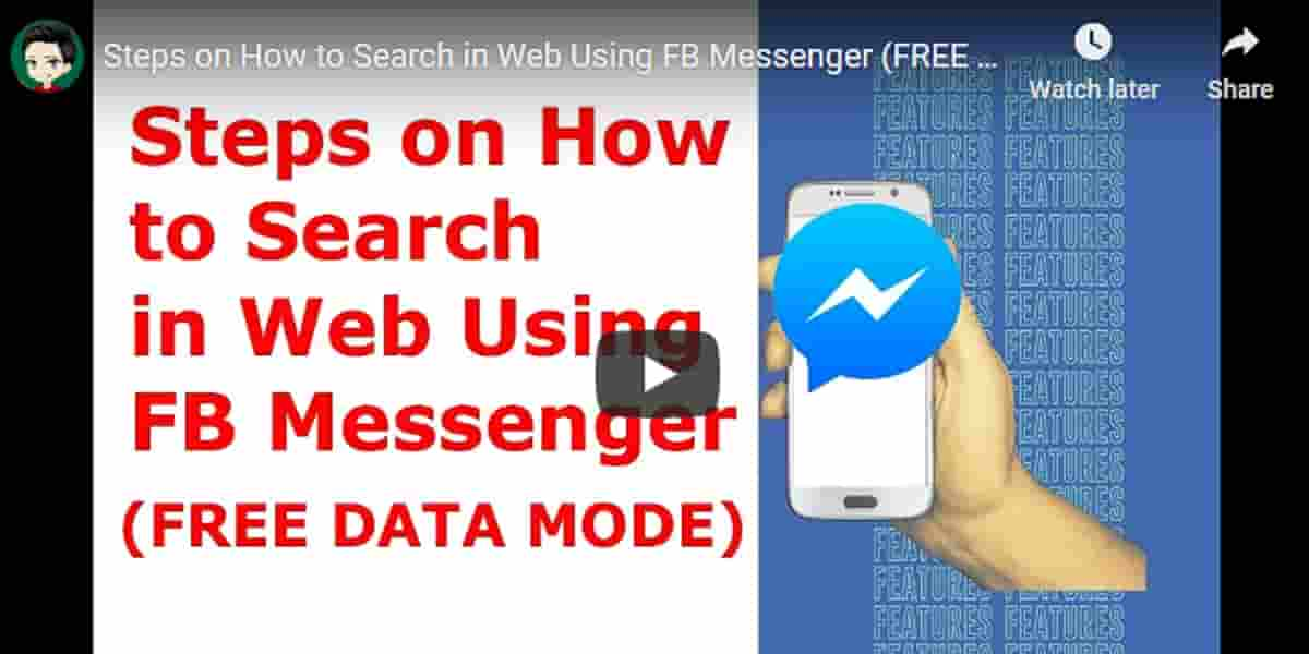 Steps on How to Search in Web Using FB Messenger