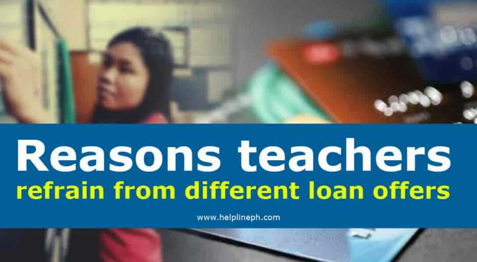 refrain from different loan offers