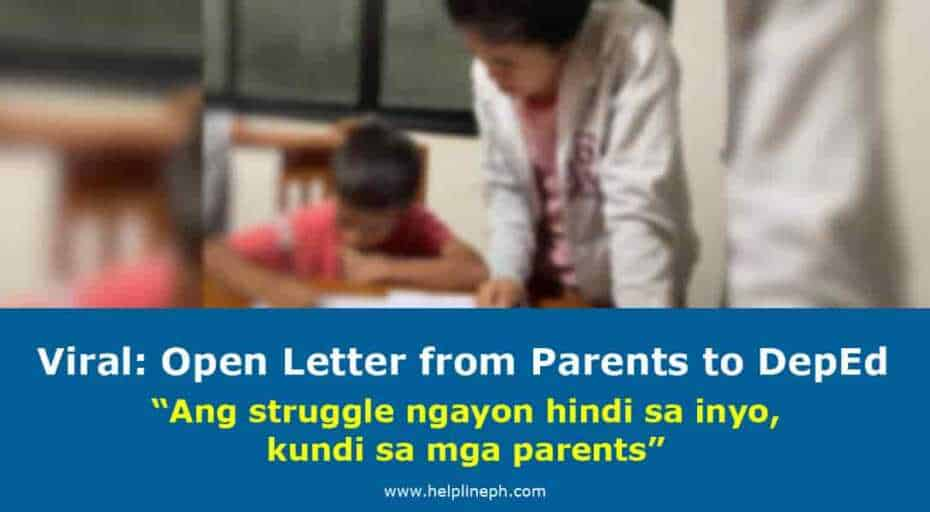 Open Letter from Parents to DepEd
