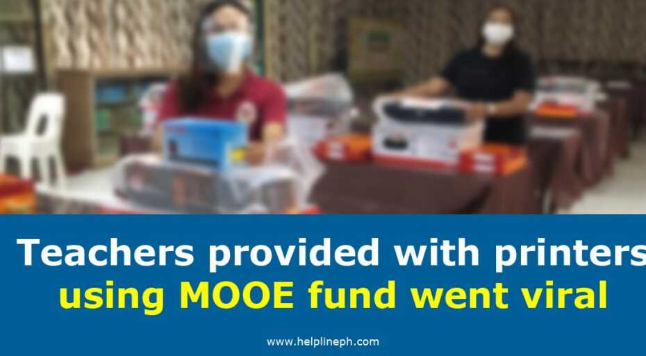 Teachers provided with printers using MOOE fund