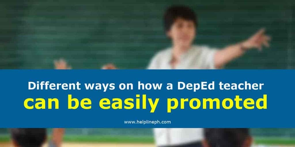 DepEd teacher can be easily promoted