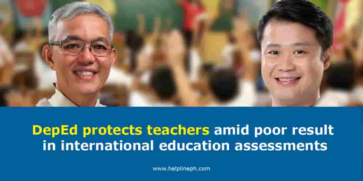 DepEd protects teachers amid poor result in international education assessments
