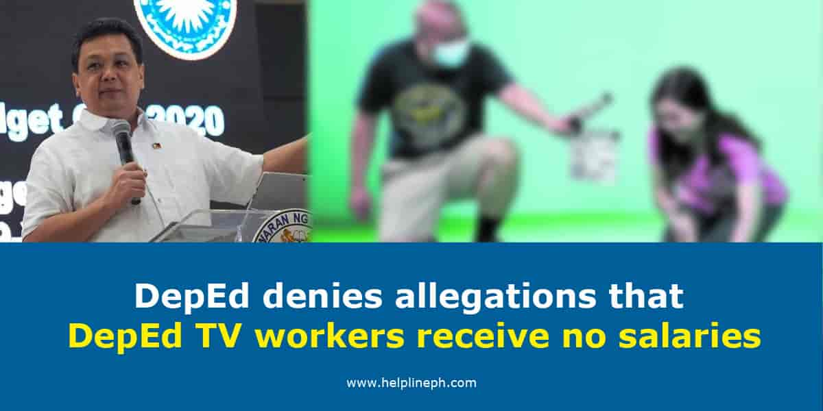 DepEd denies allegations that DepEd TV workers receive no salaries