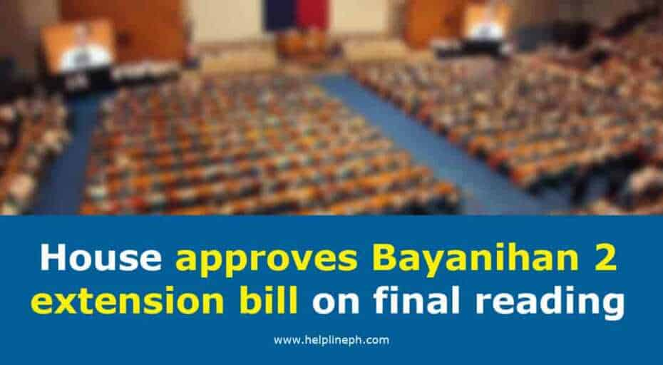 bayanihan 2 extention bill