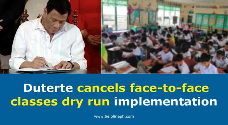 Duterte cancels face-to-face classes