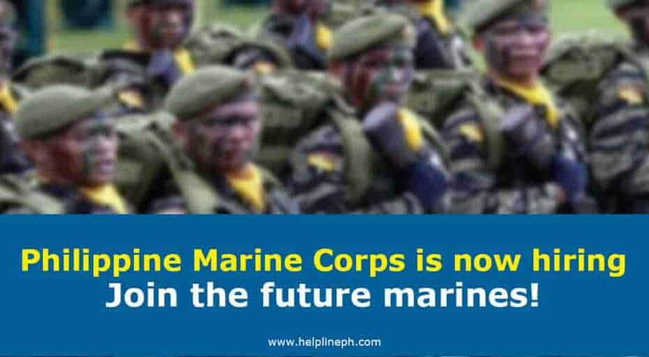 Philippine Marine Corps is now hiring