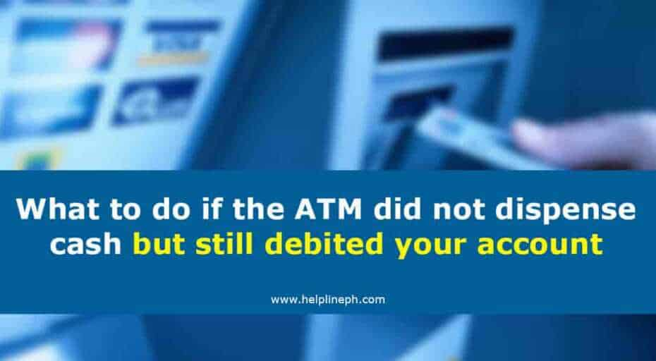 ATM did not dispense cash