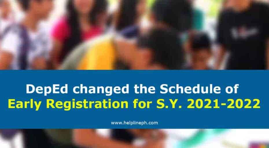 Early Registration for School Year 2021-2022
