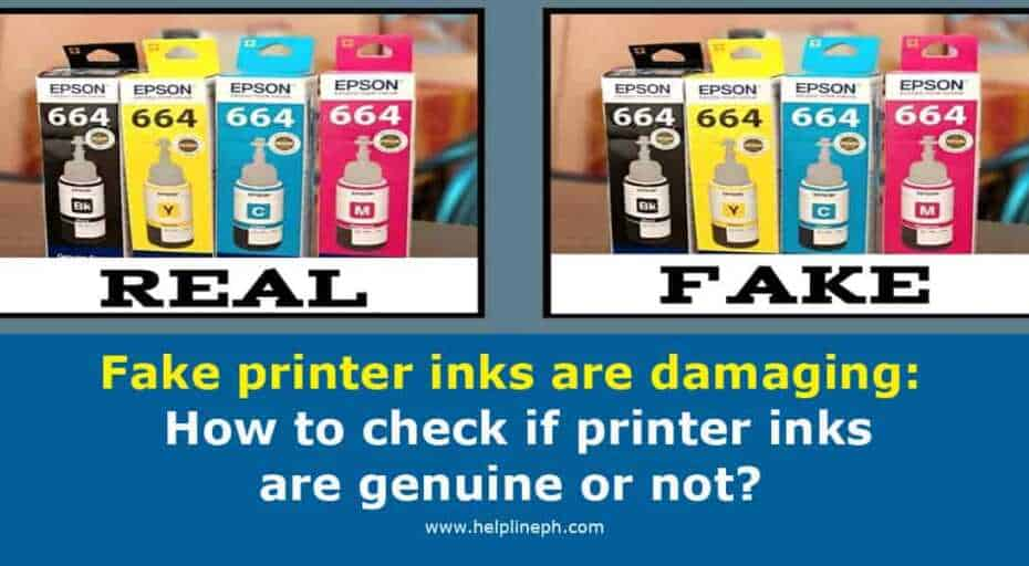 How to check if printer inks are genuine or not?