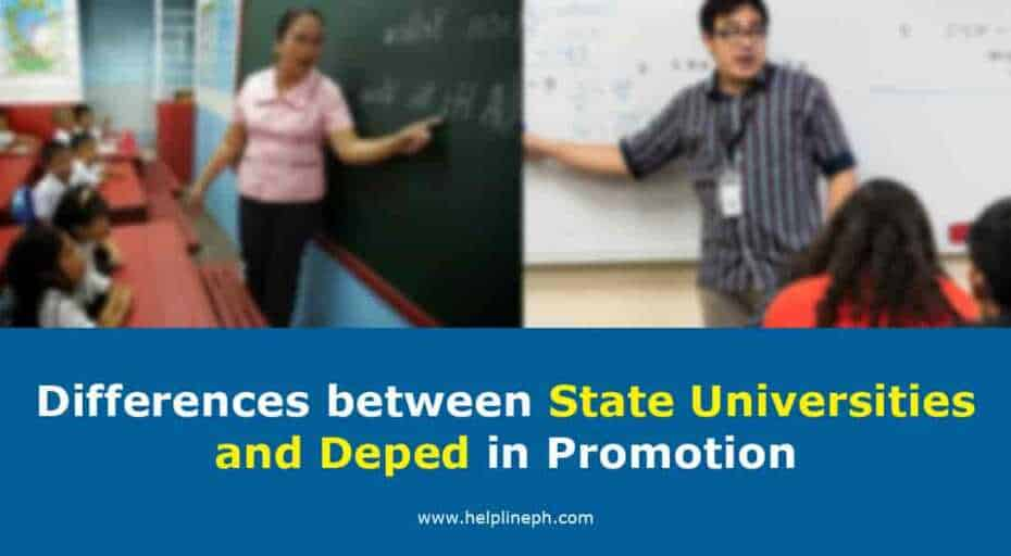 State Universities and Deped in Promotion