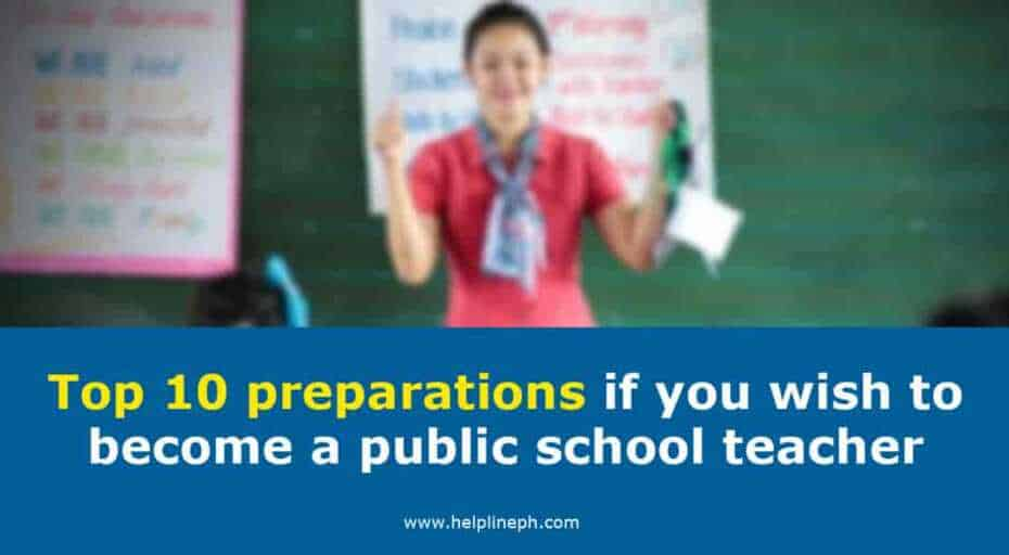 preparations if you wish to become a public school teacher