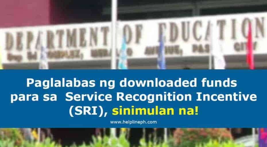Downloaded funds para sa Service Recognition Incentive
