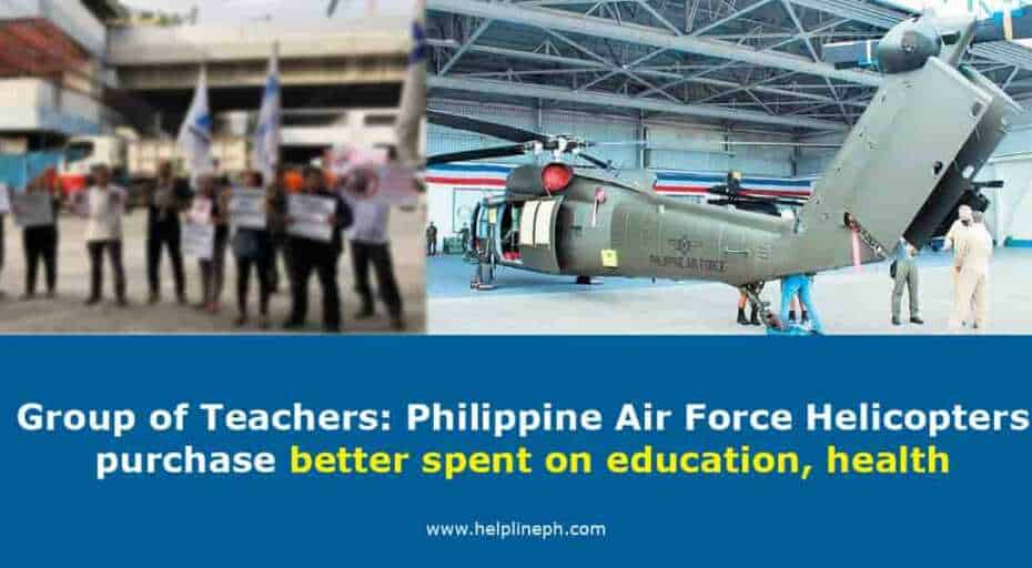Philippine Air Force Helicopters purchase better spent on education, health