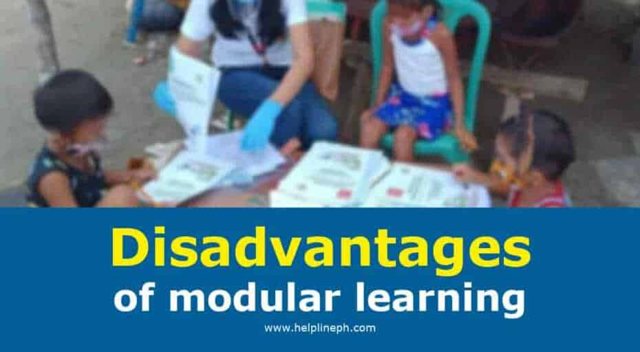 Disadvantages of modular learning