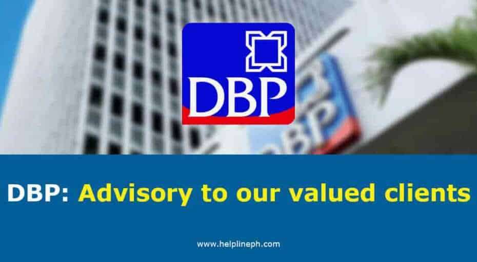 DBP: Advisory to our valued clients