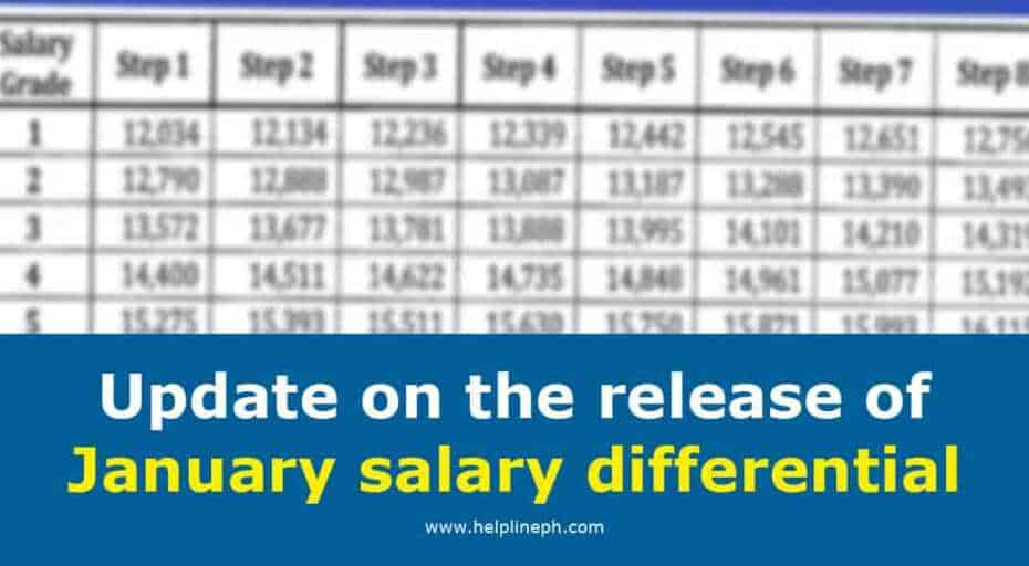Release of January salary differential