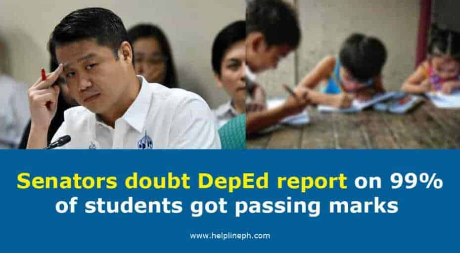 Senators doubt DepEd report