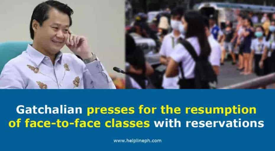 resumption of face-to-face classes