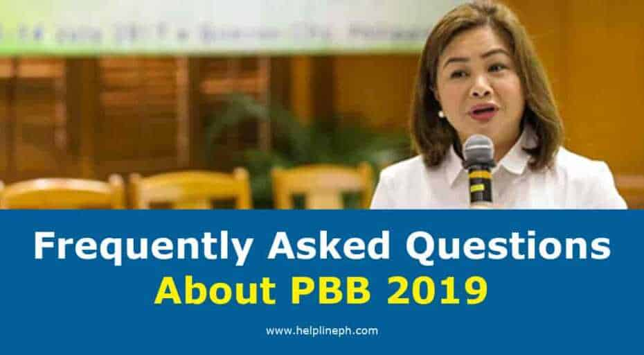 Frequently Asked Questions About PBB 2019