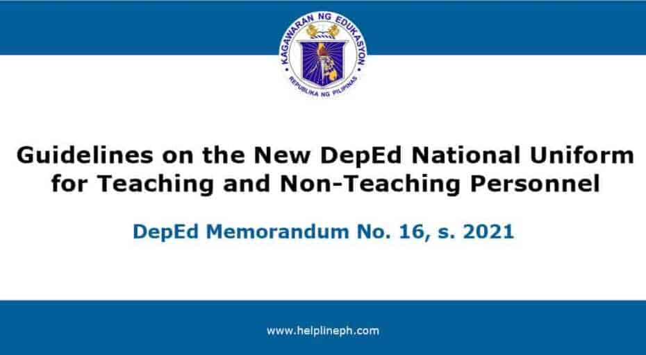 DepEd National Uniform for Teaching and Non-Teaching Personnel