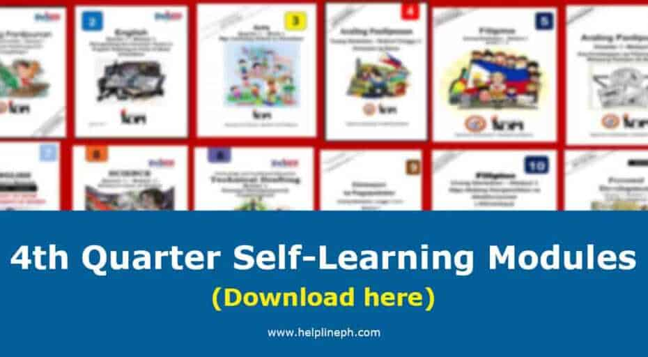 4th Quarter Self-Learning Modules
