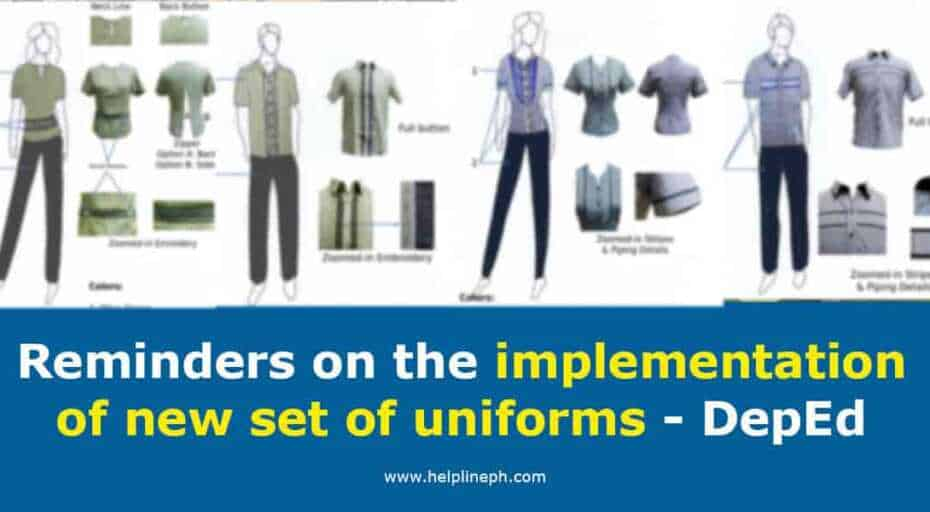 Reminders on the implementation of new set of uniforms