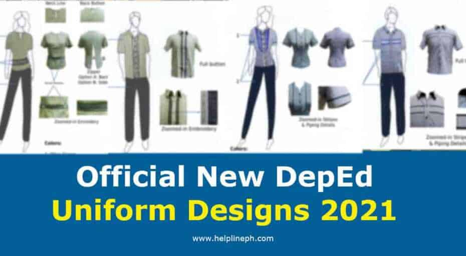 Official New DepEd Uniform Designs 2021