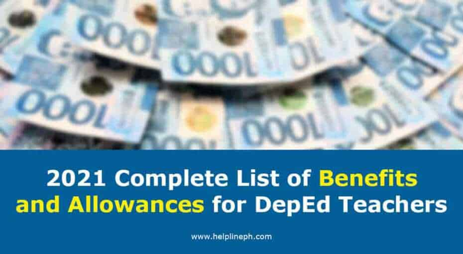 Benefits and Allowances for DepEd Teachers