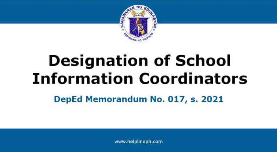 Designation of School Information Coordinators