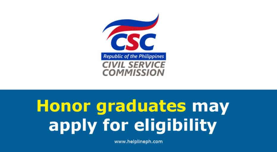 Honor graduates may apply for eligibility