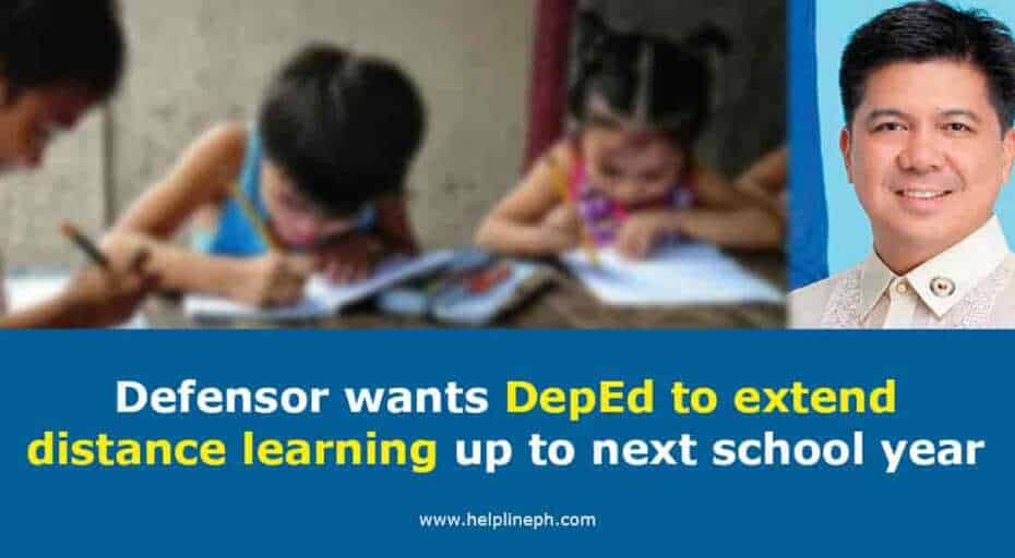 DepEd to extend distance learning