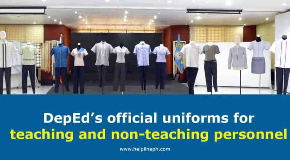 DepEd's official uniforms for teaching and non-teaching personnel