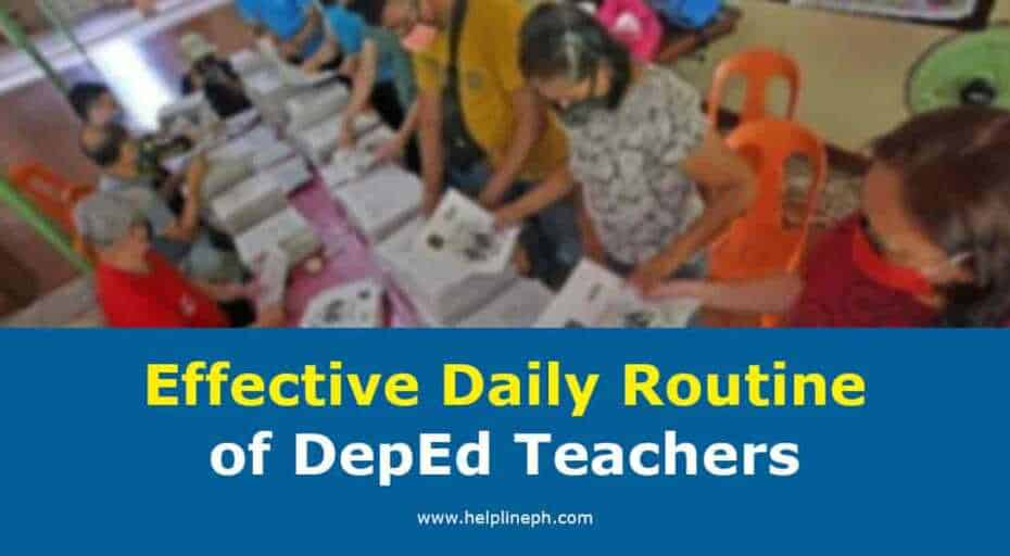 Daily Routine of DepEd Teachers