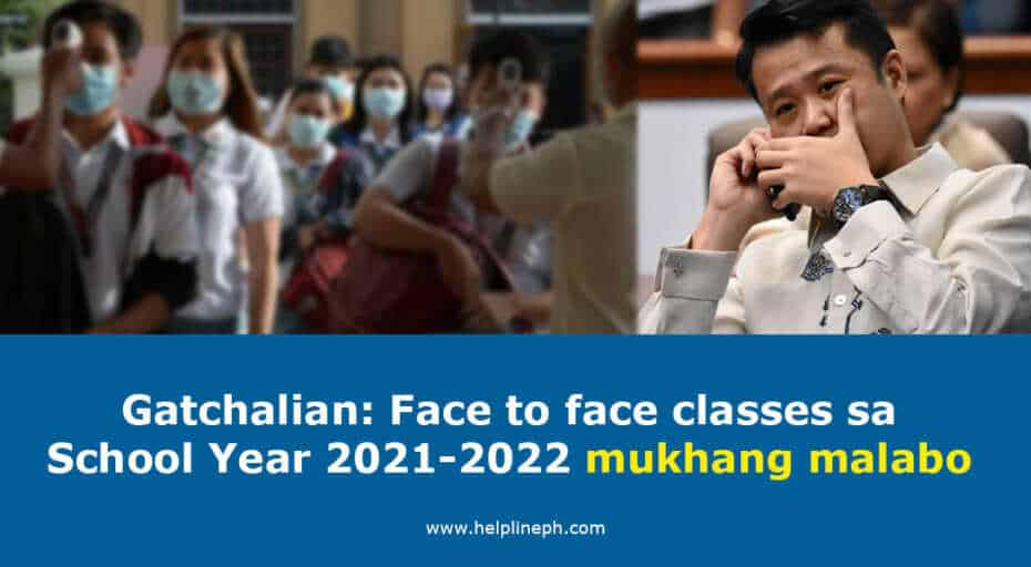 Face to face classes sa School Year 2021-2022