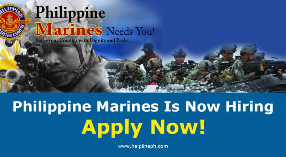 Philippine Marines Is Now Hiring