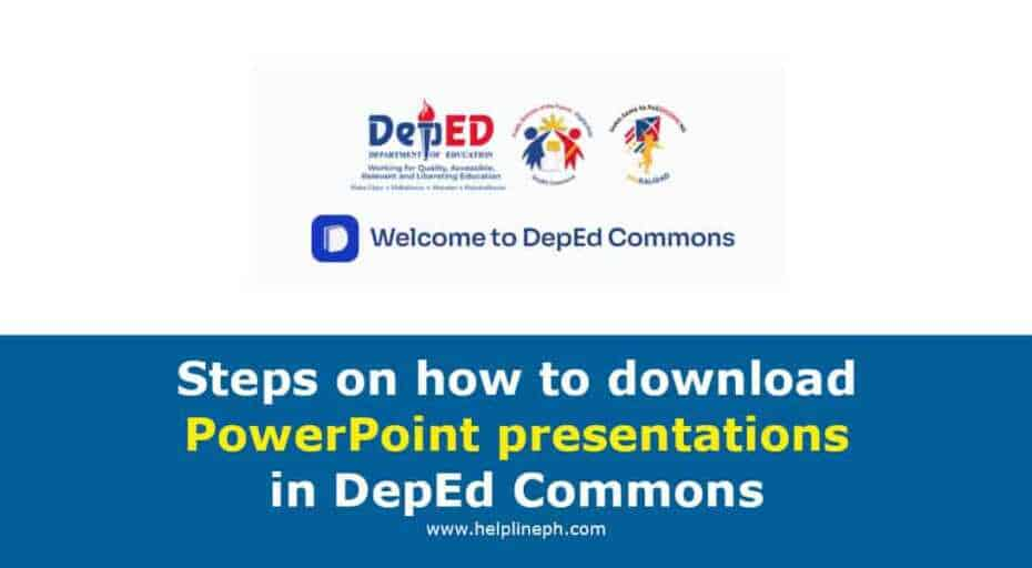 PowerPoint presentations in DepEd Commons