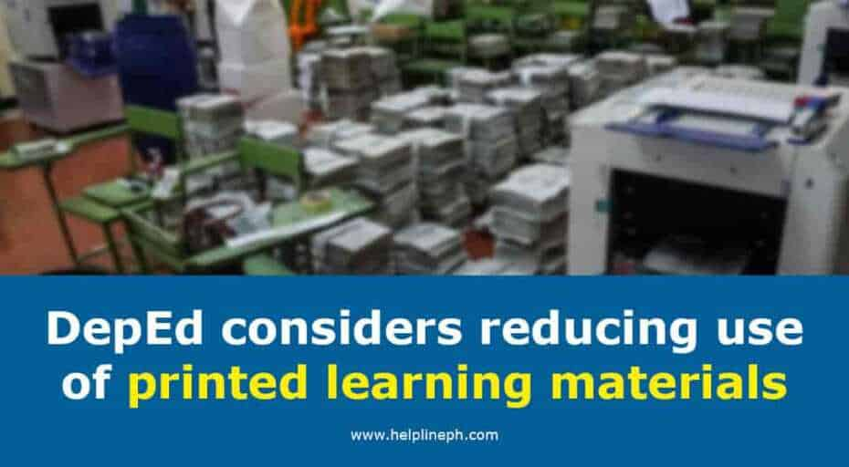 reducing use of printed learning materials