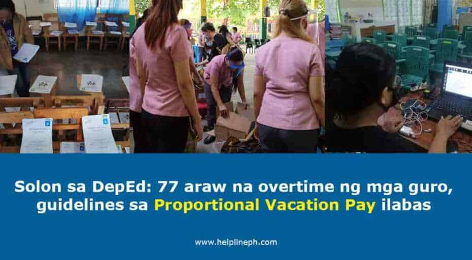 Proportional Vacation Pay