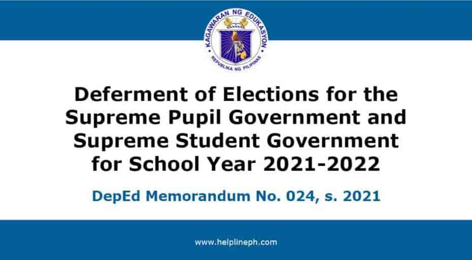 Deferment of Elections