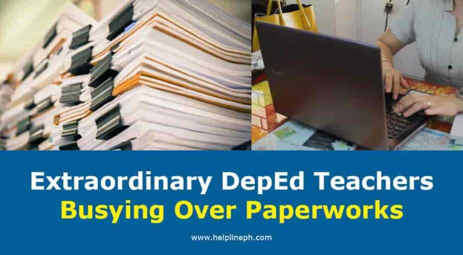 DepEd Teachers Busying Over Paperworks