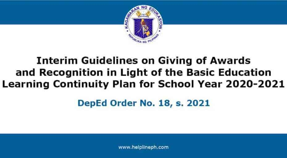 Interim Guidelines on Giving of Awards and Recognition