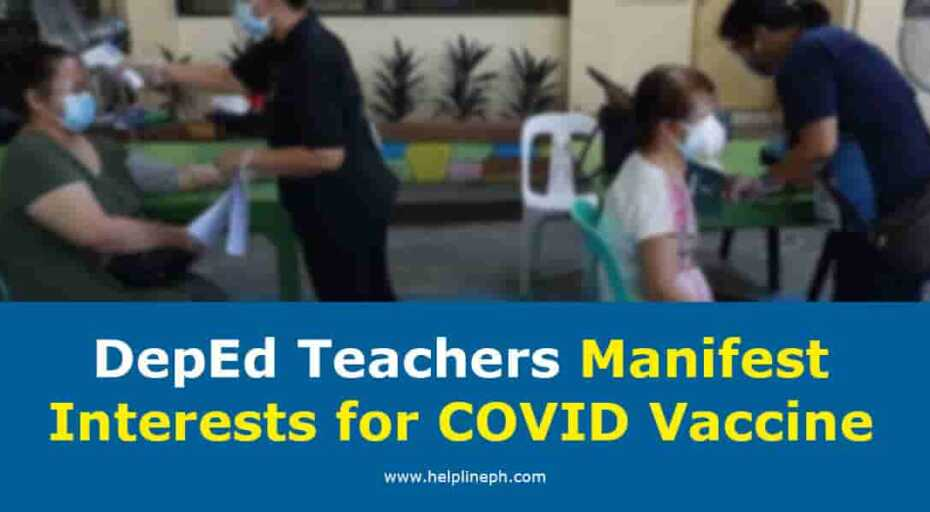 DepEd Teachers Manifest Interests for COVID Vaccine