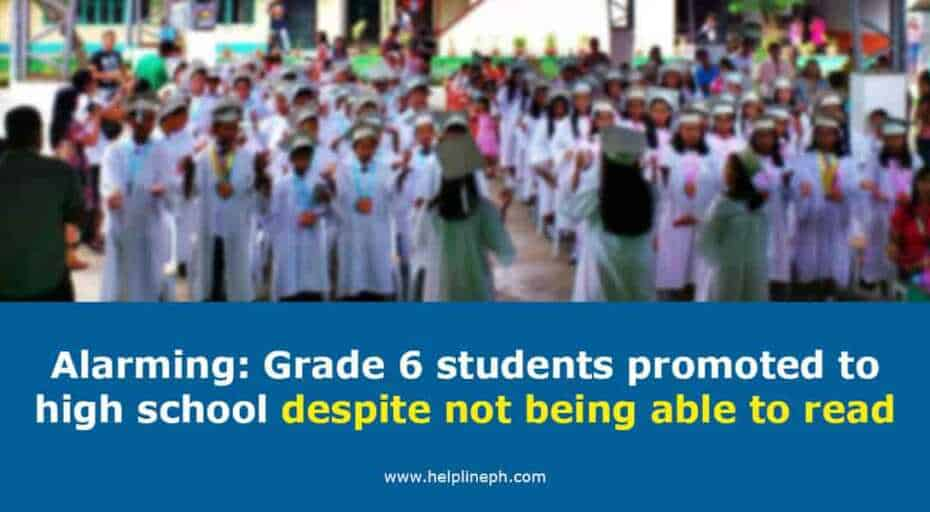 Grade 6 students promoted to high school despite not being able to read