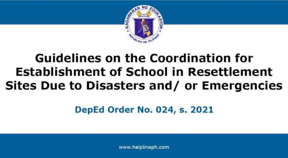 Guidelines on the Coordination for Establishment of School