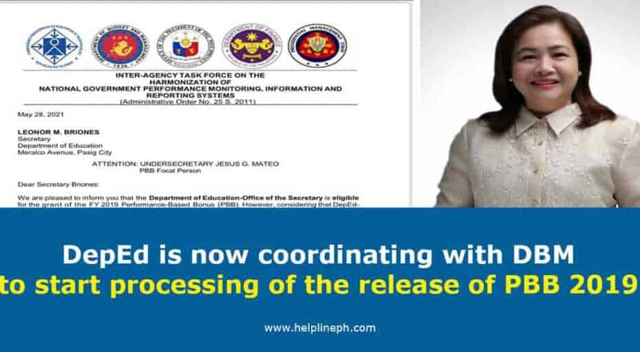DBM to start processing of the release of PBB 2019