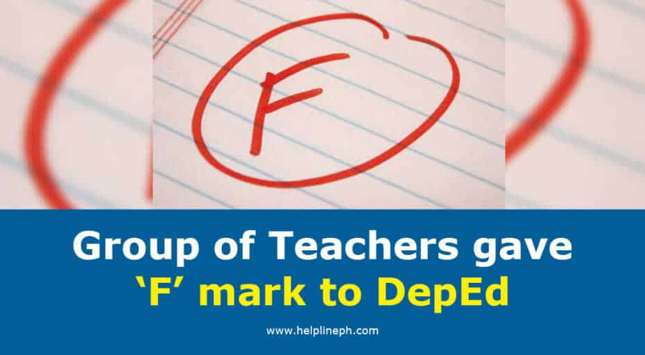 F mark to DepEd