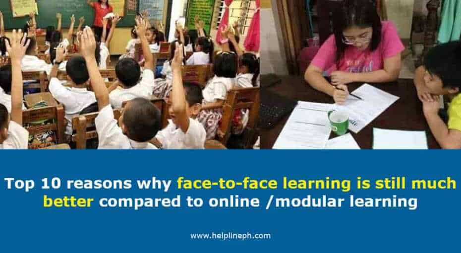 face-to-face learning is still much better