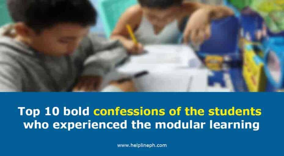 confessions of the students who experienced the modular learning